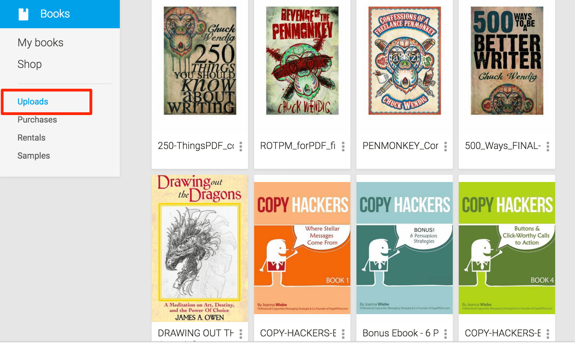 Google Books Upload