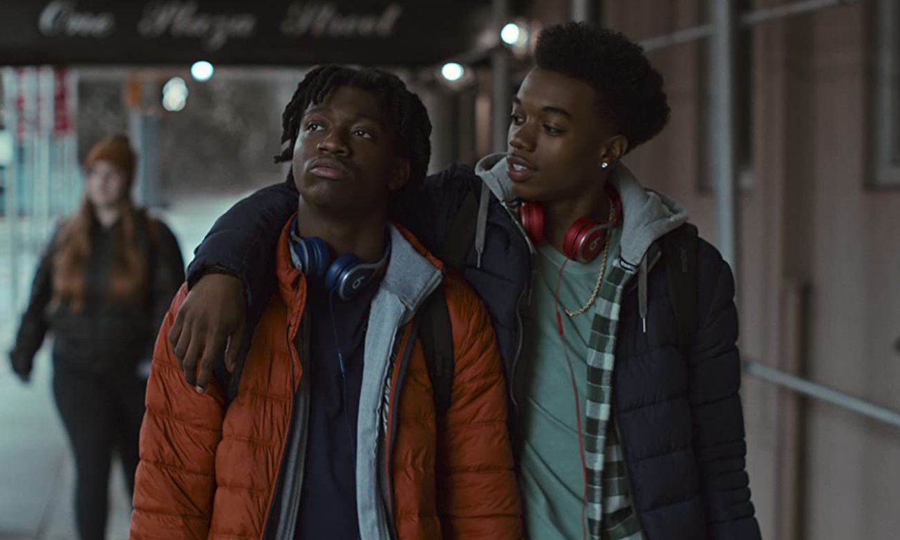 Maliq Johnson and Jaden Jordan in 'Grand Army.'