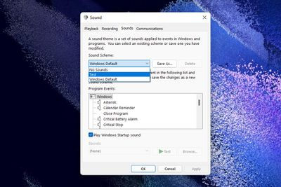 A screenshot of the Windows 11 Sound settings window