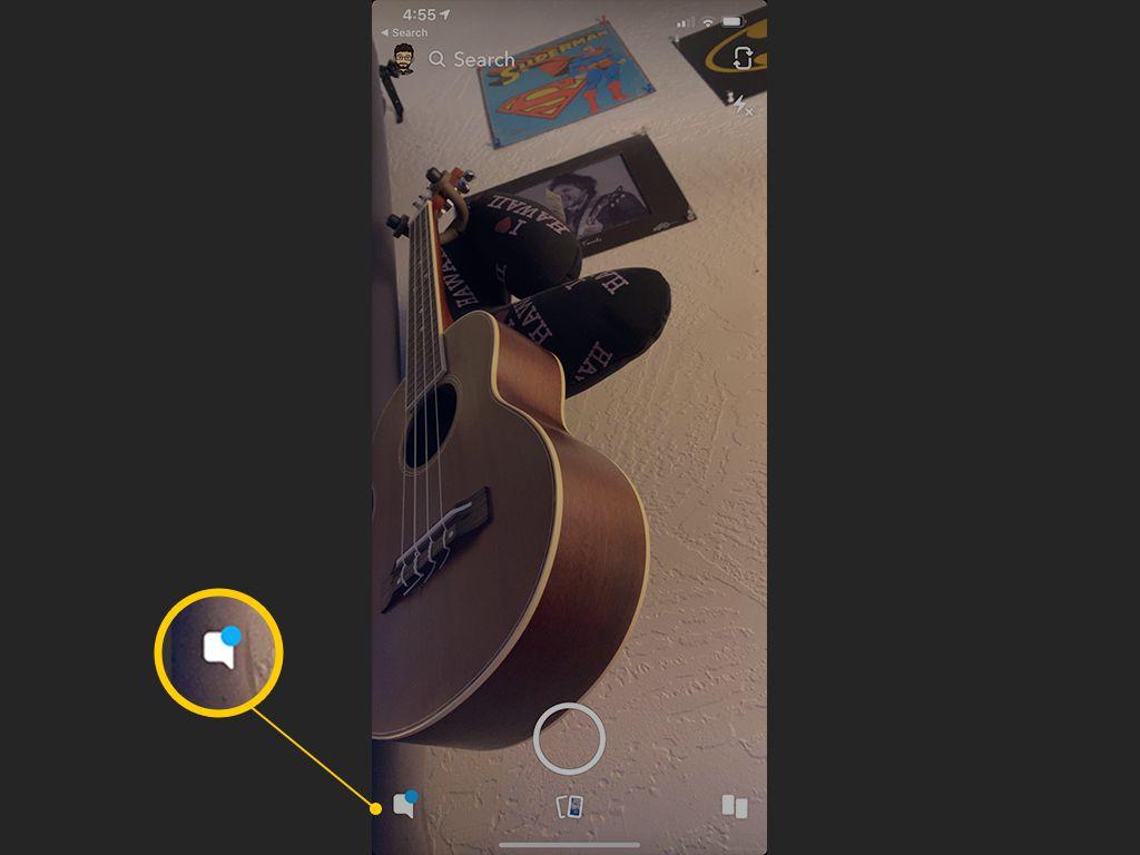زر الدردشة على Snapchat لنظام iOS