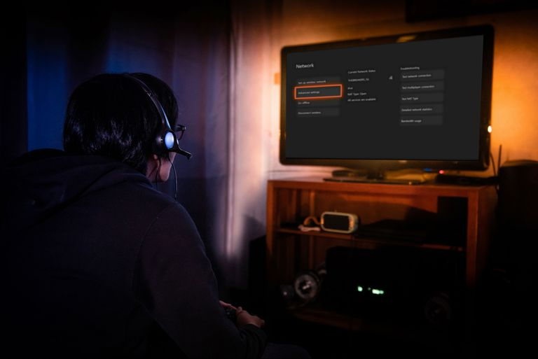 A gamer checks their Xbox One internet connection after setting up a VPN.