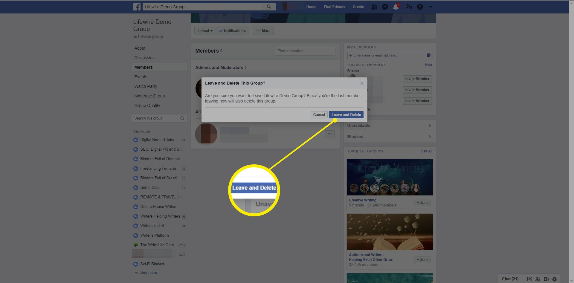 From group people remove facebook How to