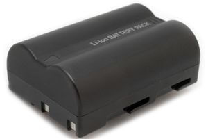 A rechargeable camera battery
