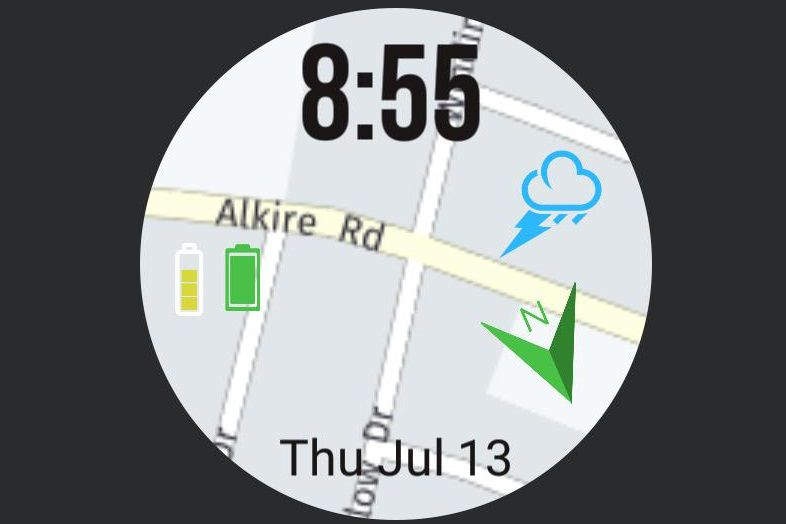 Map by PChan watch face for Samsung Galaxy watches