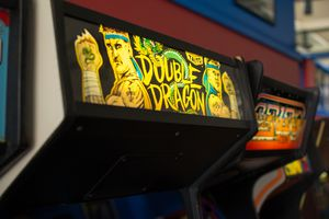 Double Dragon arcade game cabinet