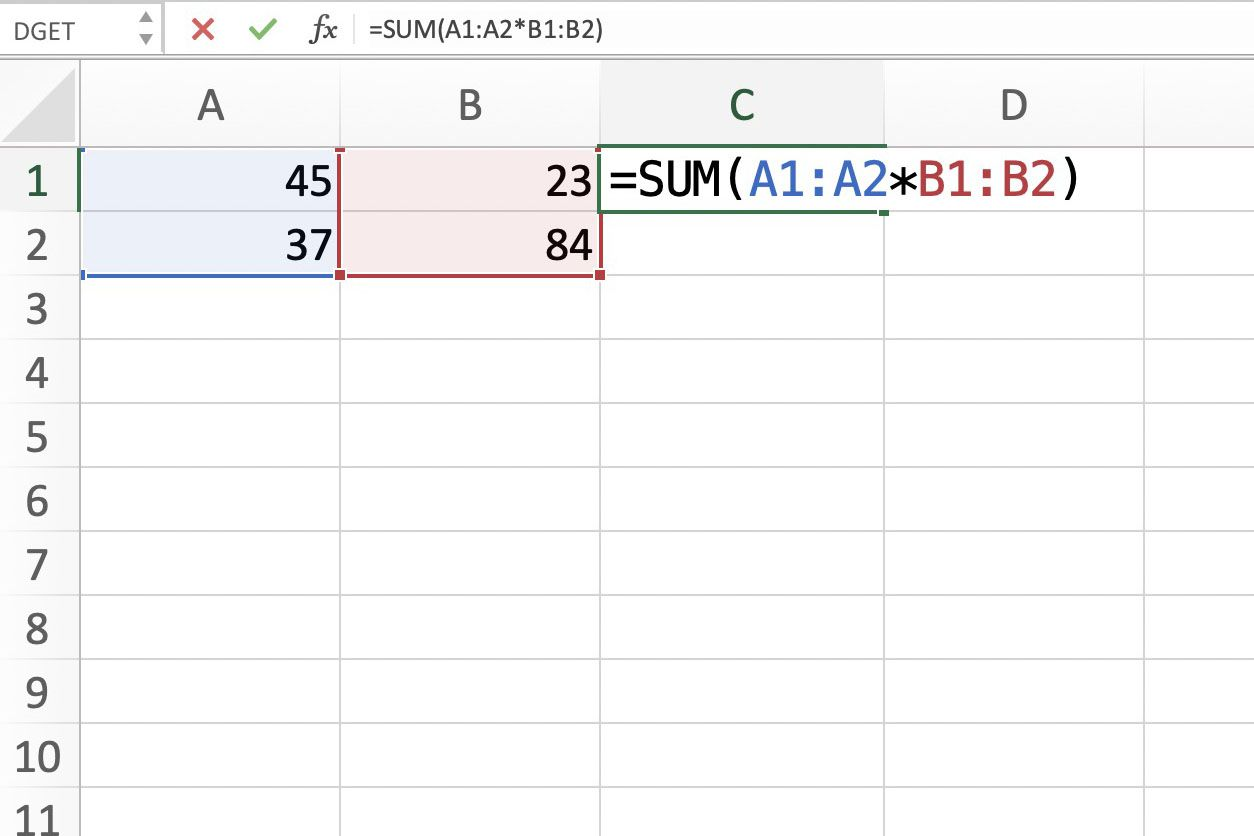 Arrays, Array Formulas, and Table Arrays in Excel