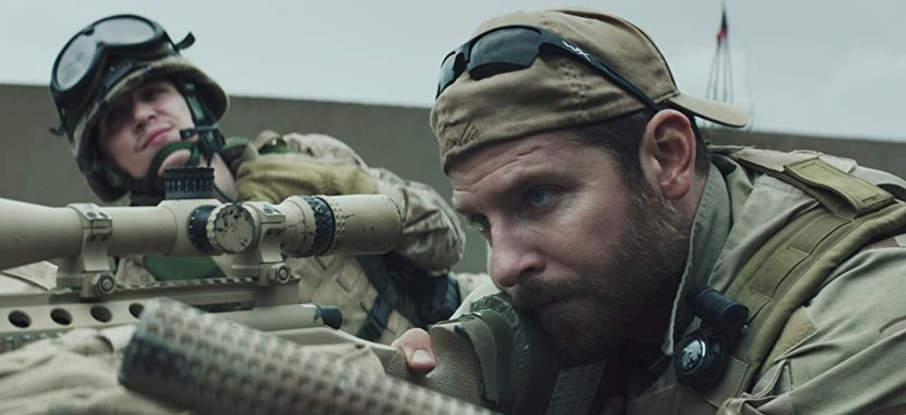 Screen capture of American Sniper