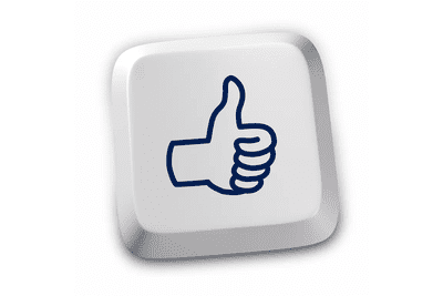 Illustration of a keyboard key with a thumbs up