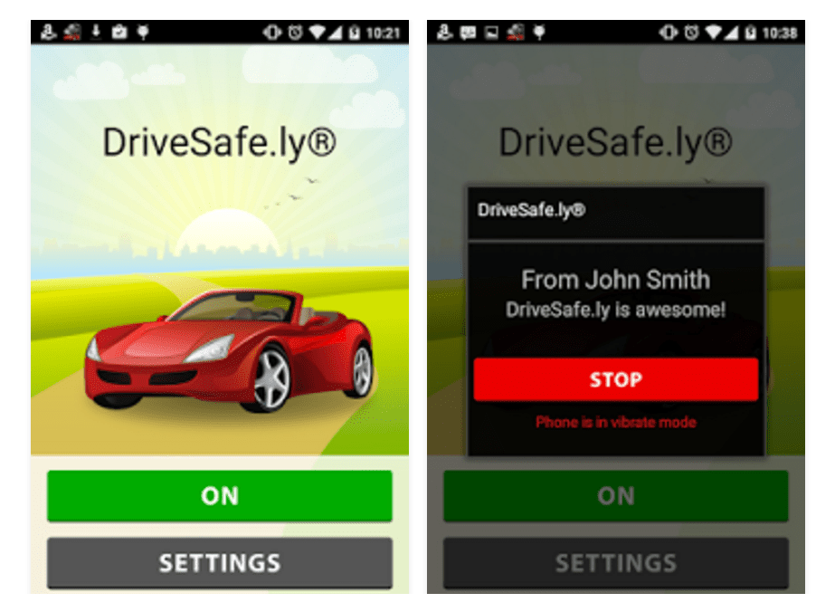 Screenshot of Drivesafe.ly Pro app