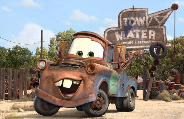 Tow Mater in the Cars universe