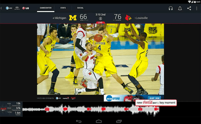 Screen shot of Live: NCAA's Official App