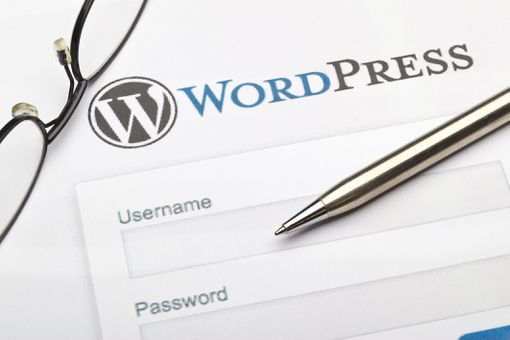 An image of the WordPress login page.