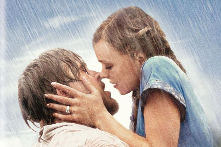 Still image of The Notebook kiss
