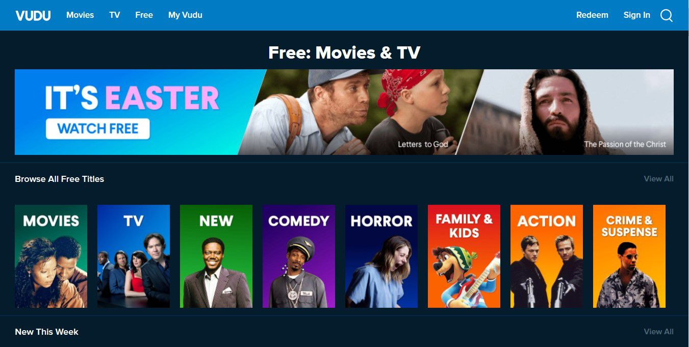 Free and Paid Shows and Movies on Vudu