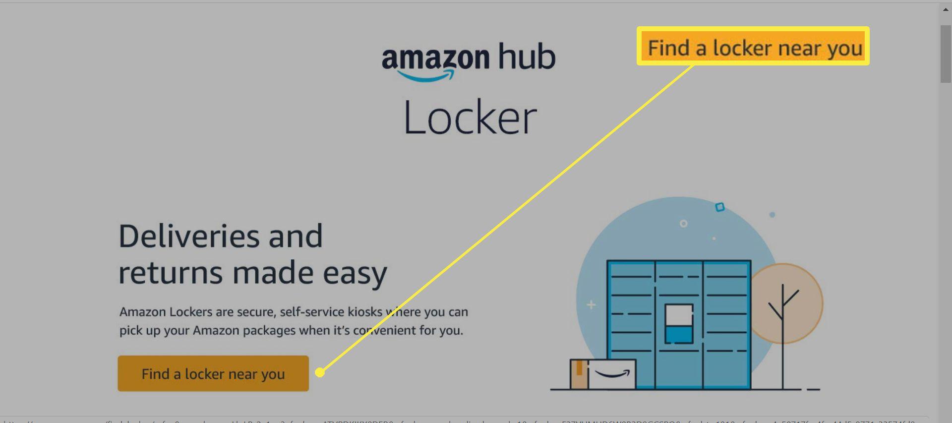 Amazon Locker delivery page.