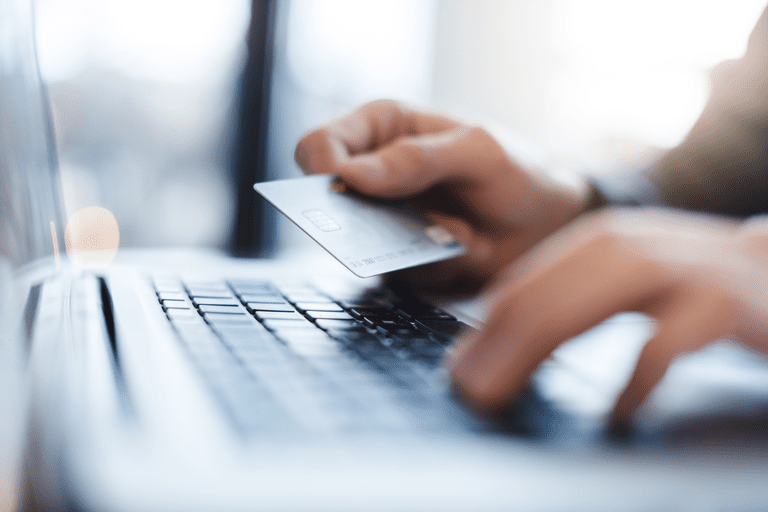 Image of a person buying something online