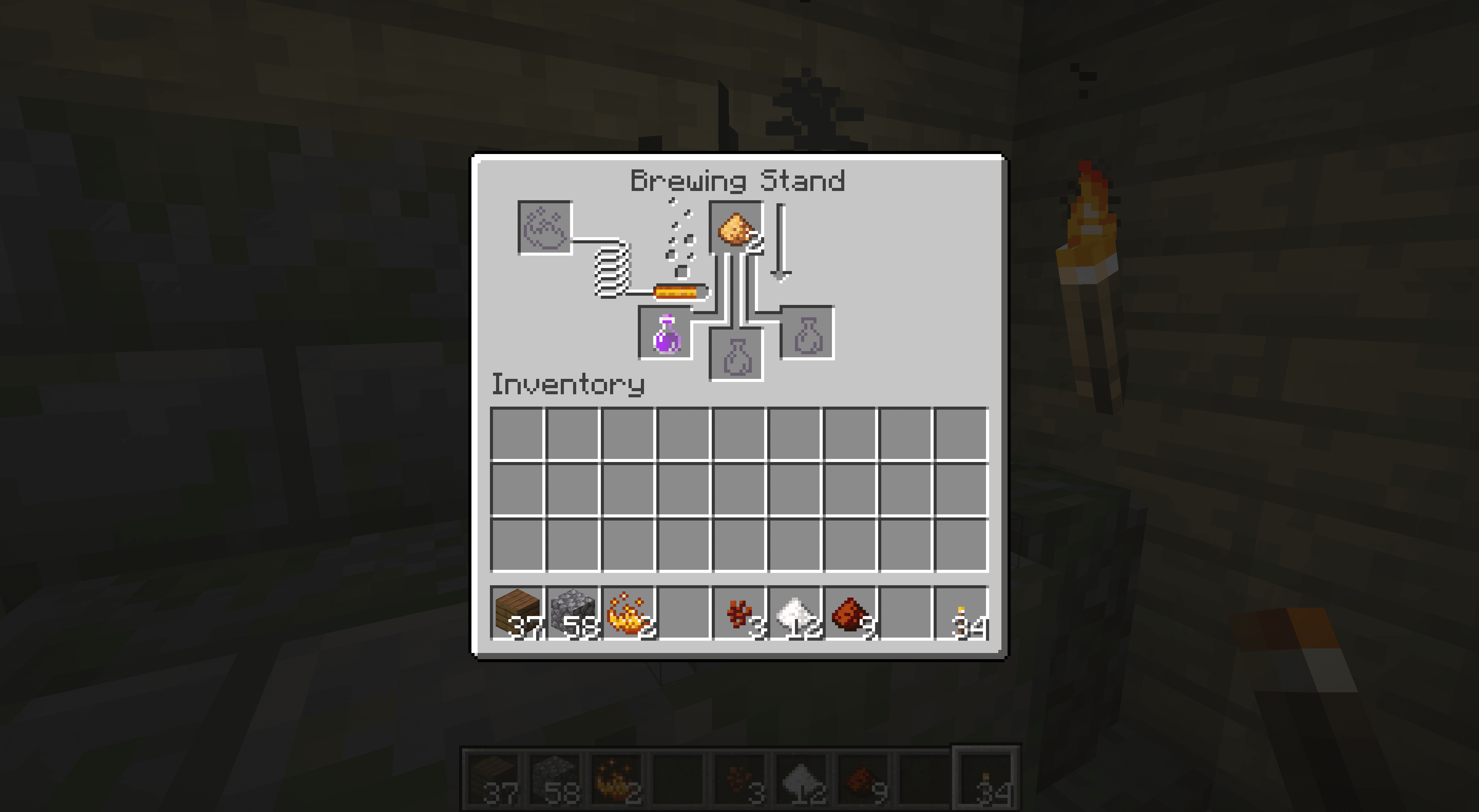 An improved potion of harming in Minecraft.