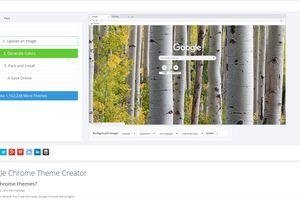 Online Google Chrome Theme Creator