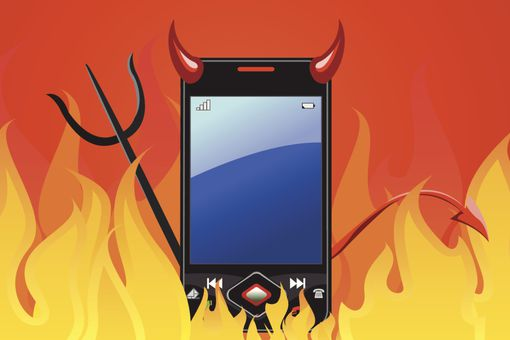 Mobile malware illustration