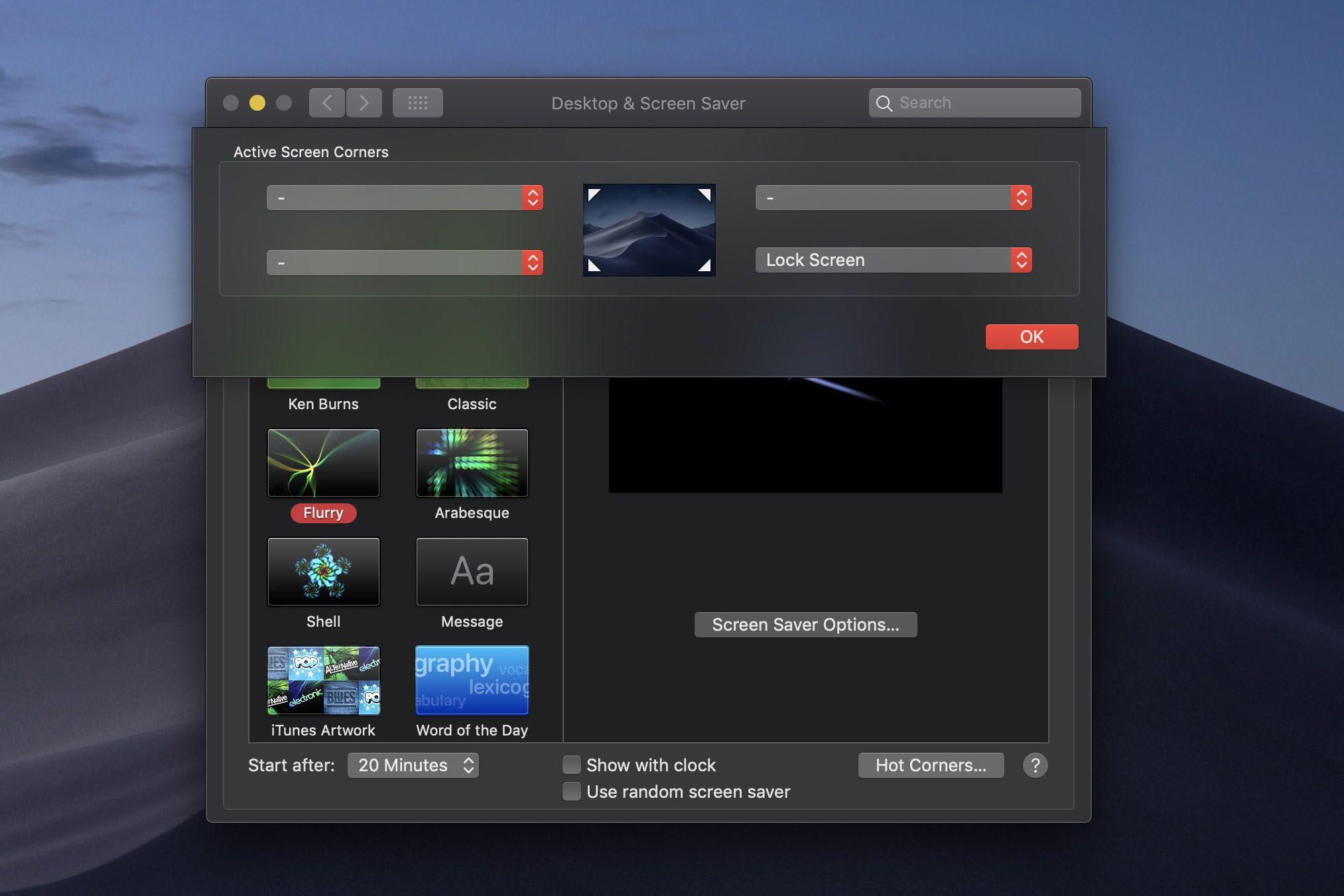 Lock MacBook via a Hotcorner