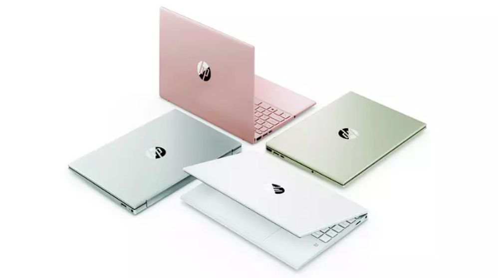 HP Pavilion Aero 13 laptops in a variety of colors
