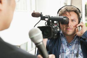 Camera man filming