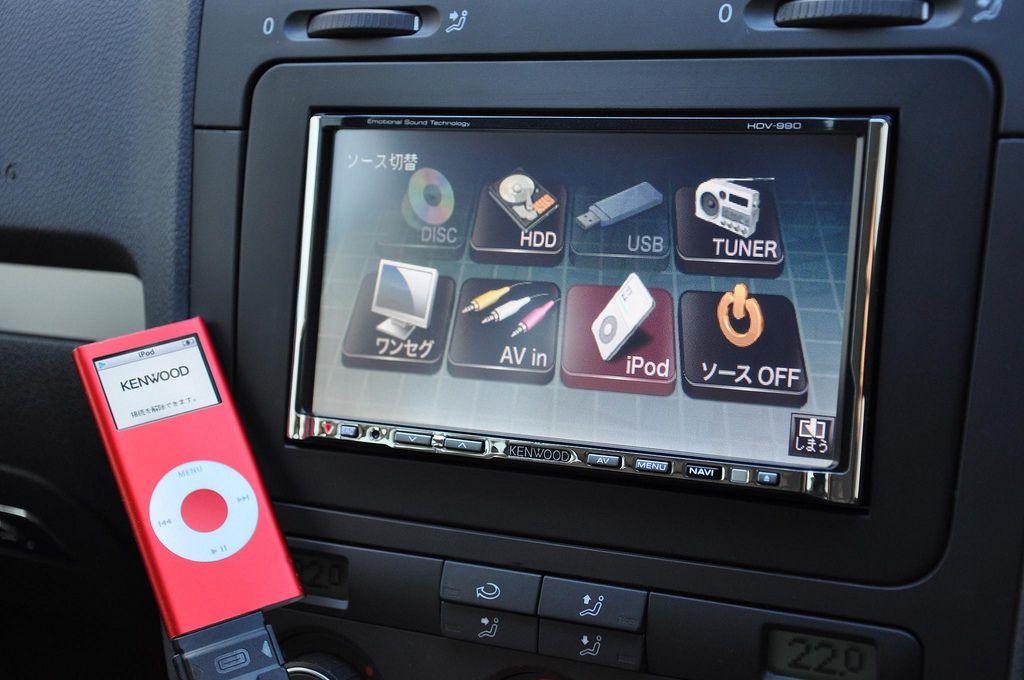 iPod in a car