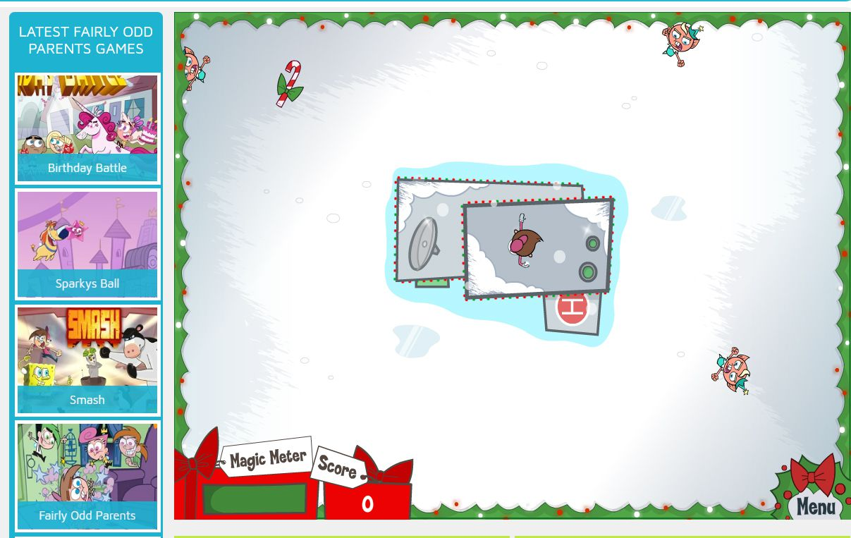 A screenshot of the game Showdown at Santa's