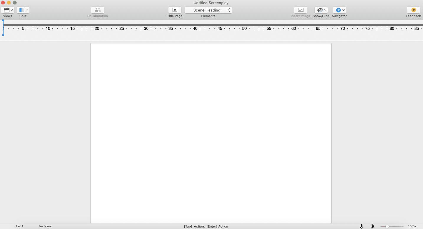 Final Draft on desktop