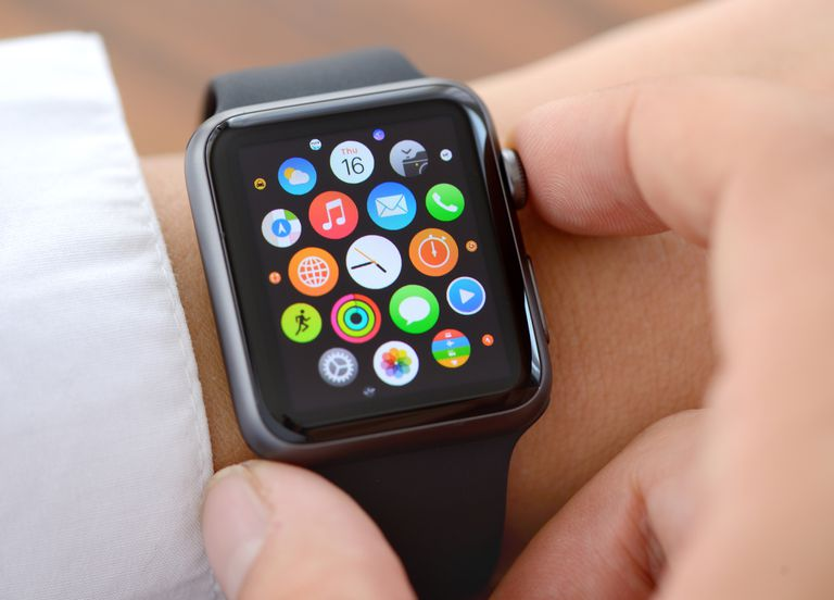 image of an Apple Watch on a man's wrist