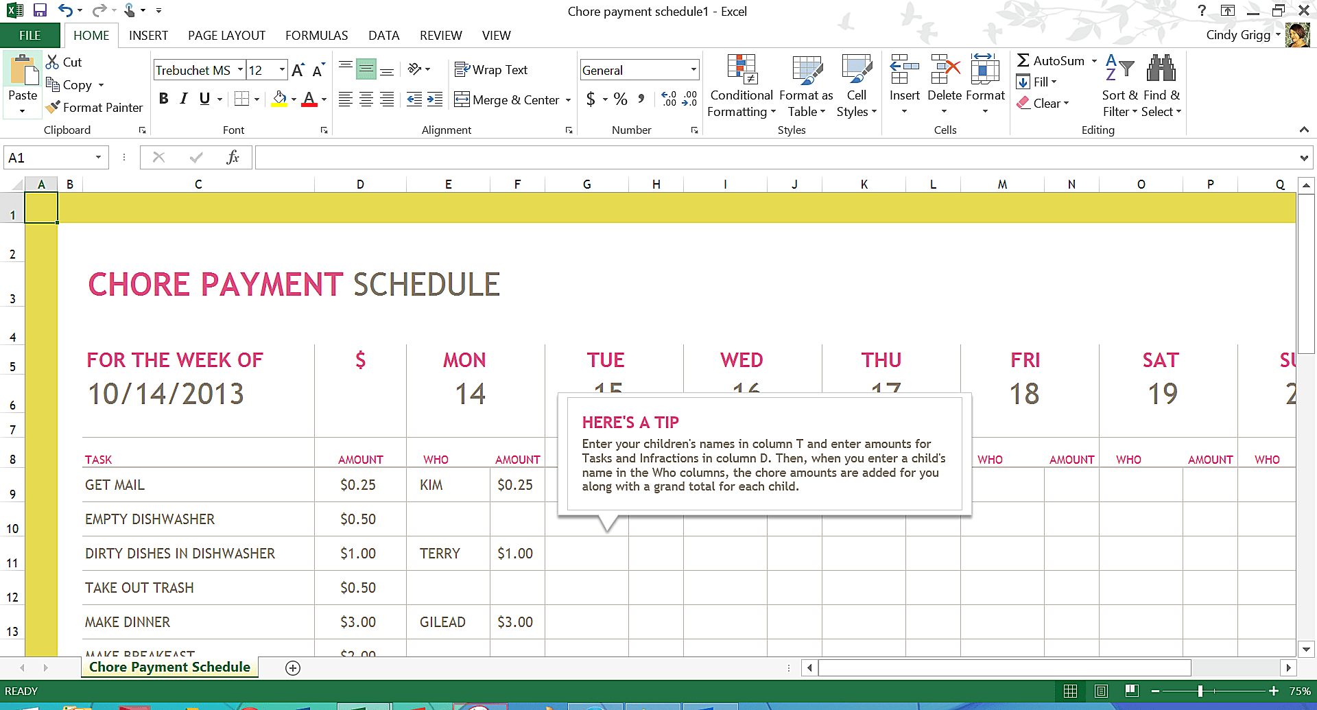 microsoft excel schedule templates