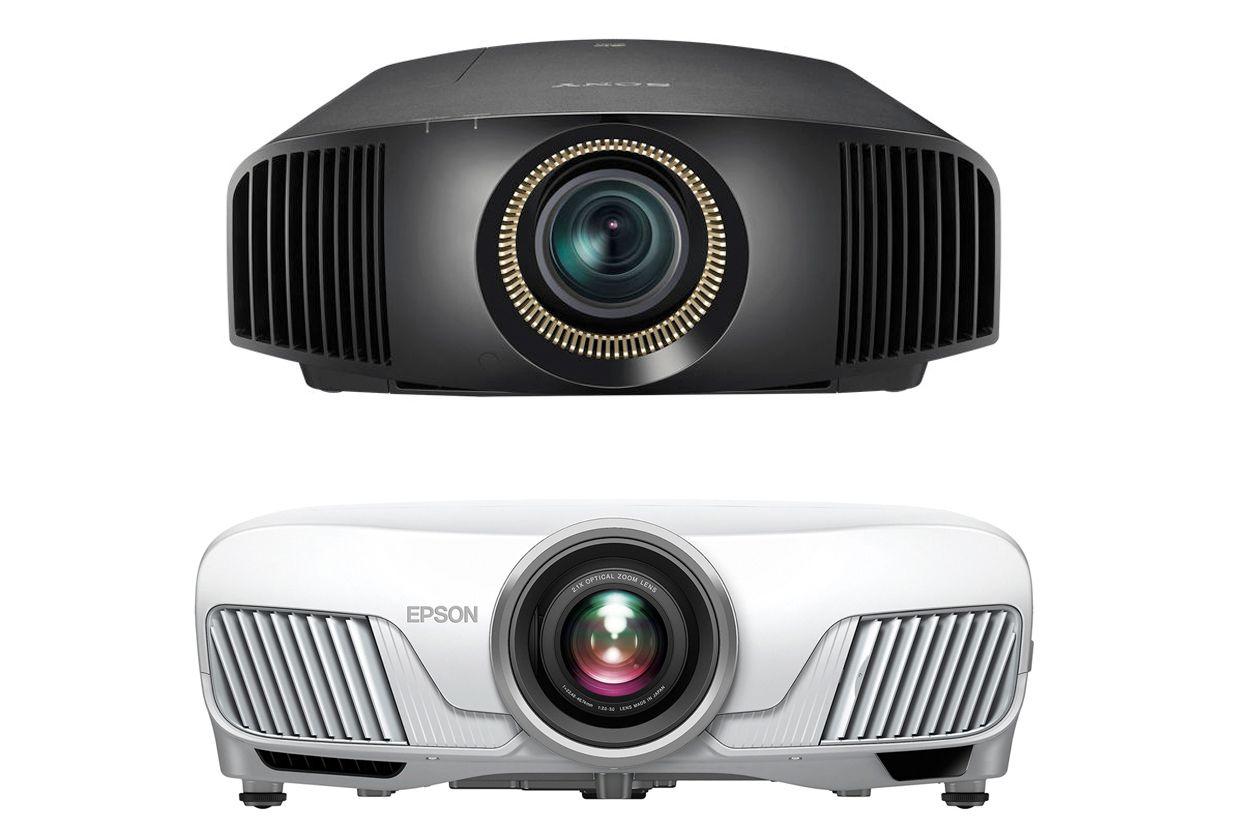 Sony VPL-VW365ES Native 4K (top) - Epson Home Cinema 5040 4Ke (bottom) Projectors