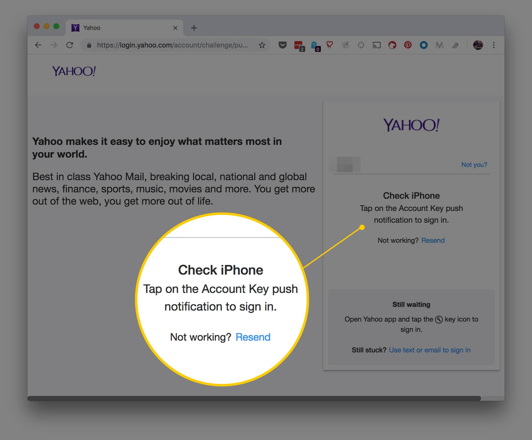 need to access my yahoo email account without password