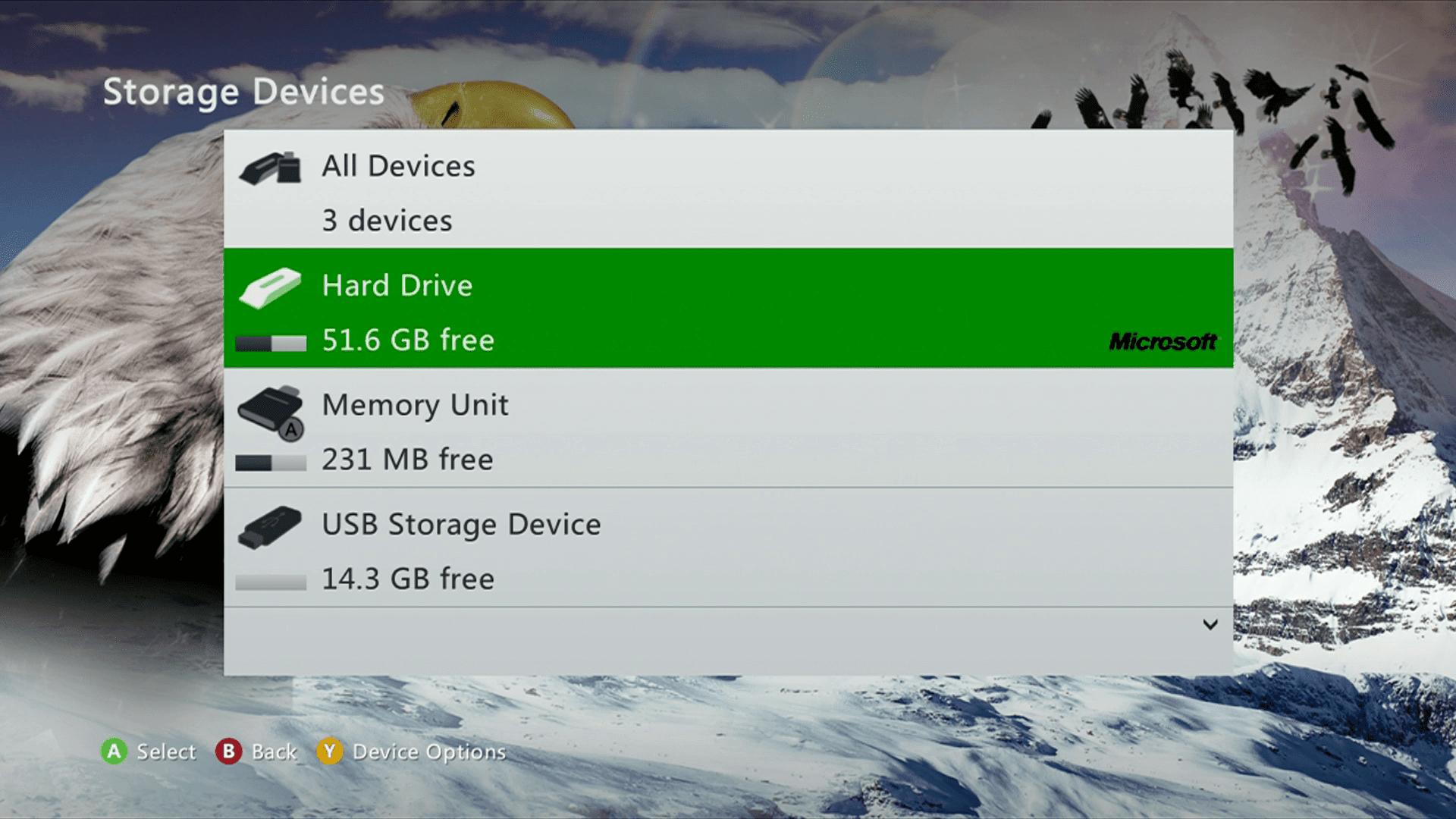Storage Devices screenshot
