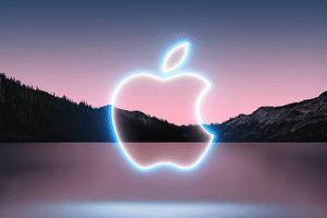 Apple logo over the invitation for California Streaming