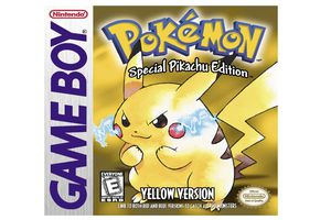 Game cover of Pokemon Yellow for gameboy with Pikachu