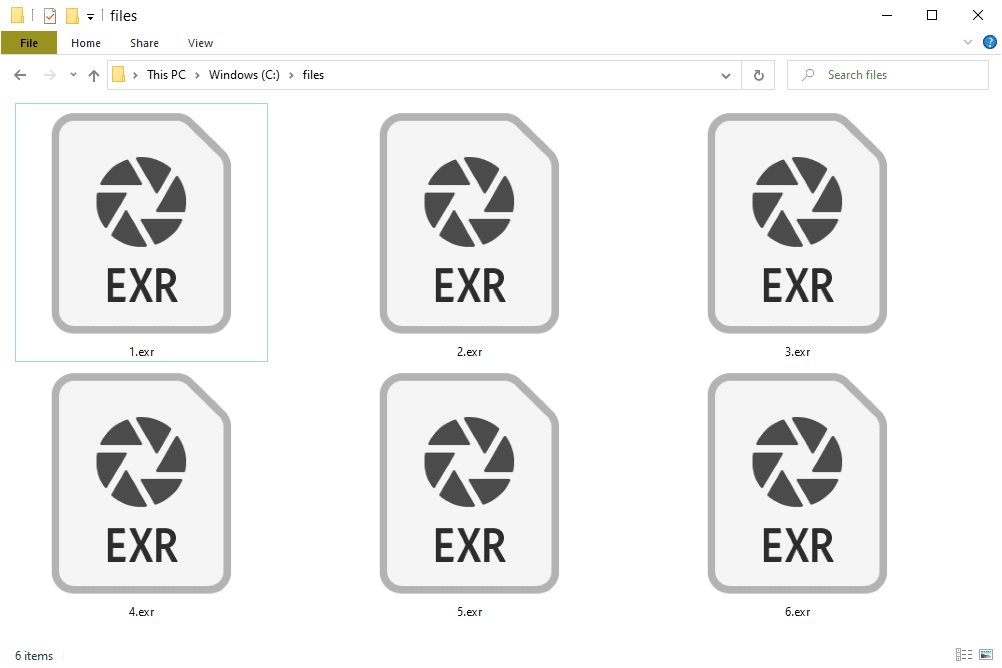 EXR files in Windows 10 that open with Photoshop