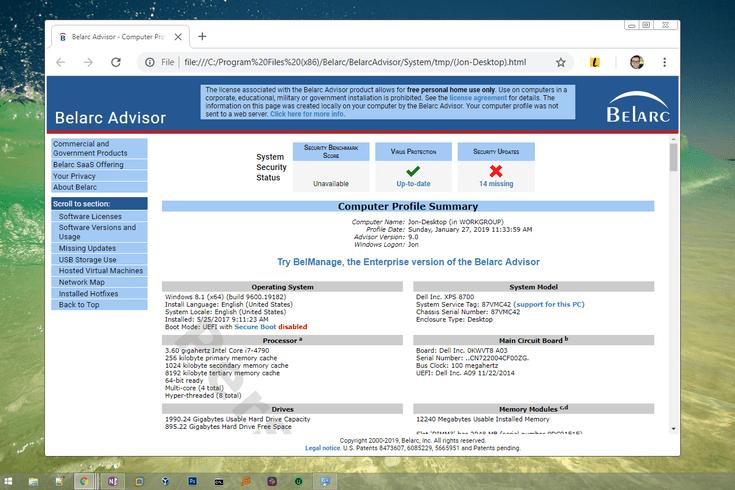 Belarc Advisor v9 0 Review (A Free System Info Tool)