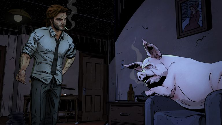Screenshot of Telltale Games' The Wolf Among Us