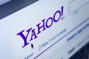 Closeup of Yahoo Website