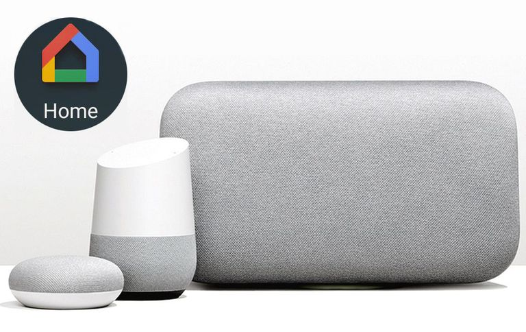 Google Home Smart Speaker Line with Google Home Logo