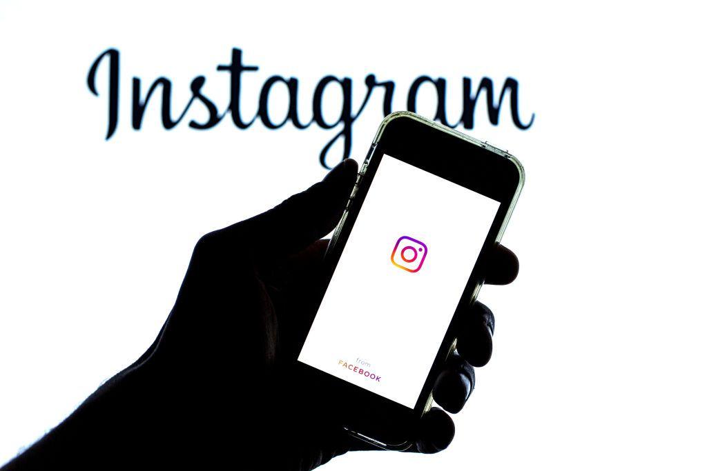 Instagram logo and background