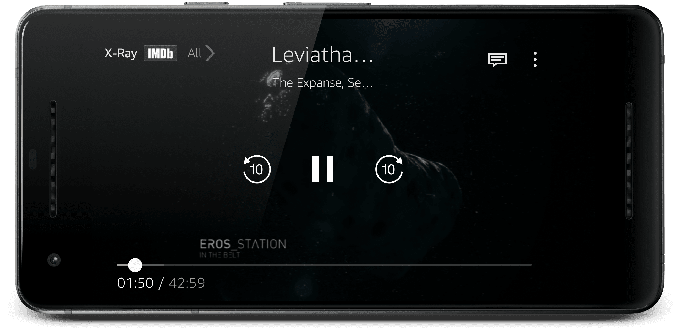 Amazon Original The Expanse viewed on a smartphone.