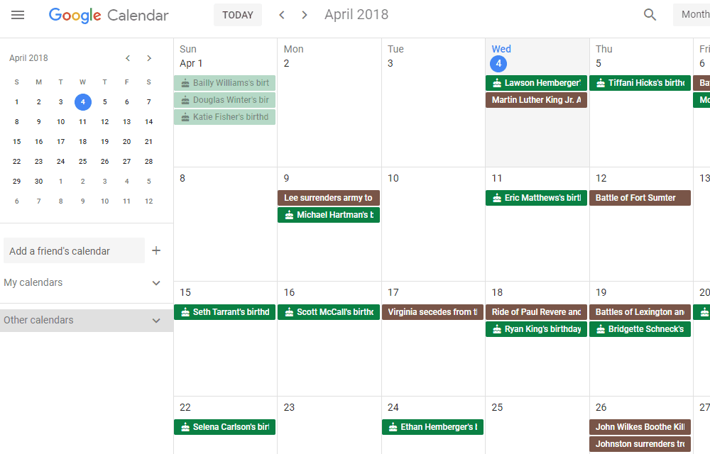 List Of The Best Free Online Calendars