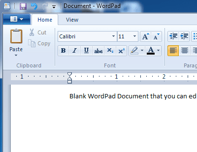 Launch WordPad in Windows 7 Using Search