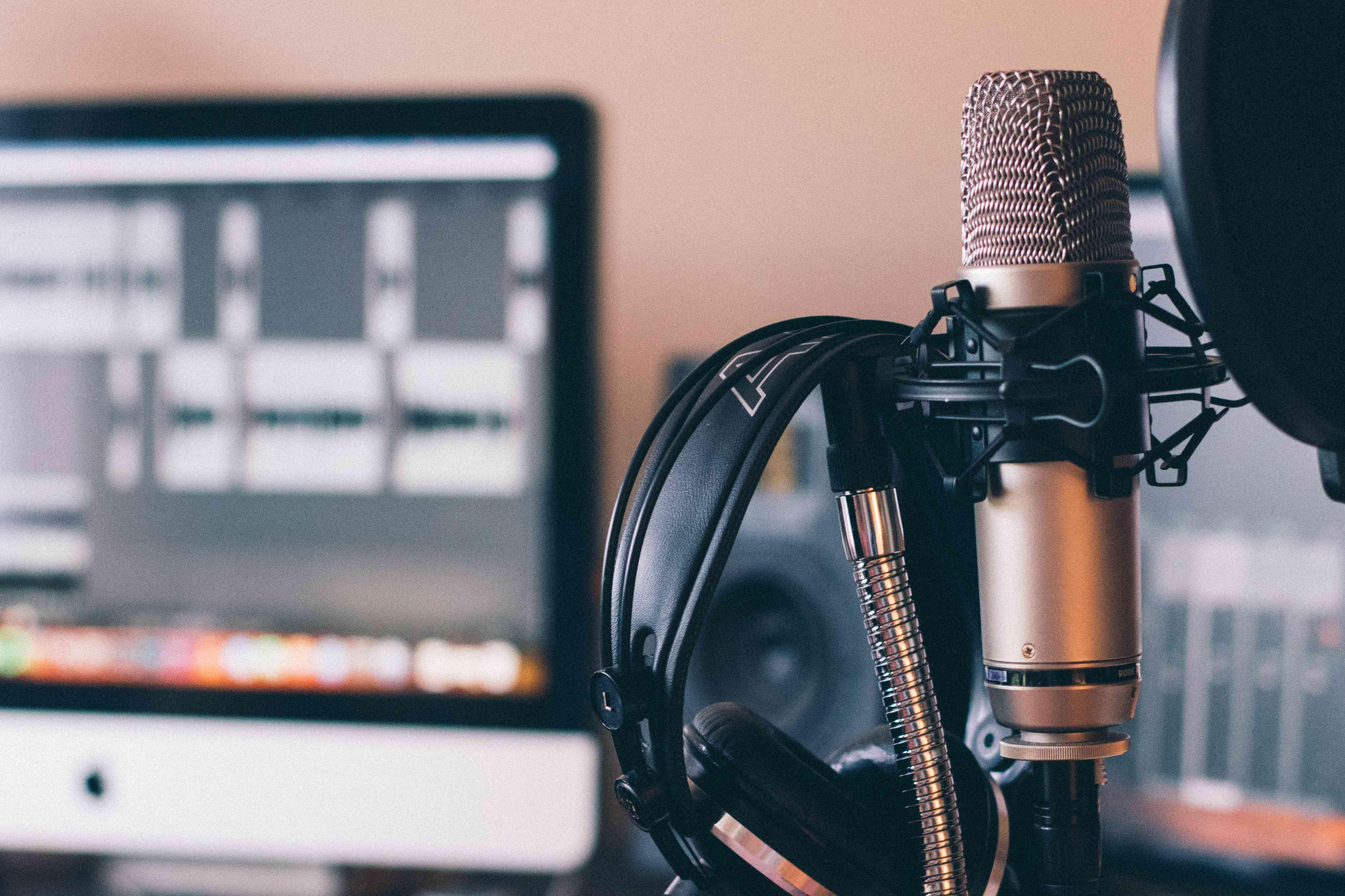 A home audio studio setup.