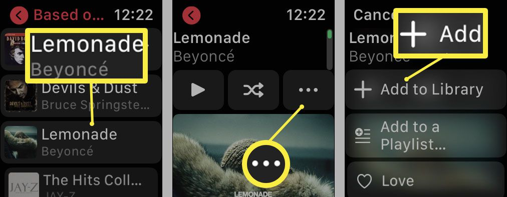 Steps required to add music to Apple Watch via Apple Music