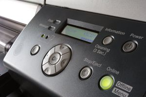 An inkjet printer connected to a network