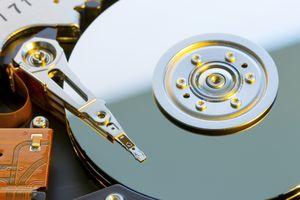 A computer's hard drive.