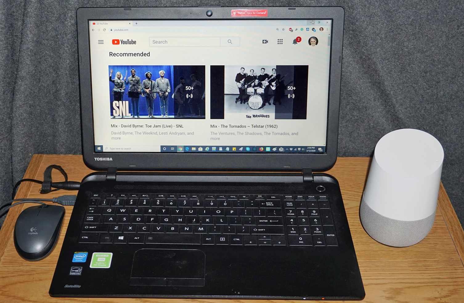 Google Home – Laptop – YouTube
